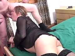 Plump mature shemale in crazy orgy
