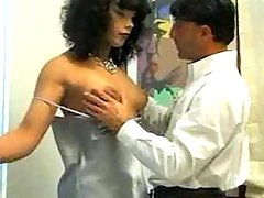 Sexy tranny making sensual oral job
