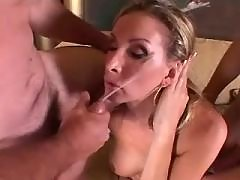 Gorgeous shemales fucked by macho