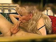 Mature shemale gets cream